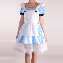 Alice In Wonderland Cosplay Costumes Women Halloween Party Costumes for Adult Fantasia Maid Blue Dress Alice Fancy Dress