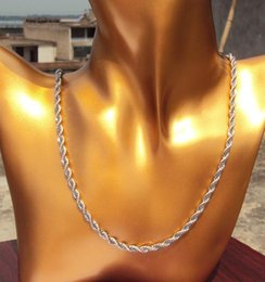 """23.6"""" stainless steel White Gold Silver wheat rope Necklace Chain link fashion Containing about 30% or more of an alloy"""