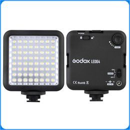 Wholesale Godox LED64 LED Video LED Lamp for DSLR Camera Camcorder mini DVR as Fill Light for Wedding News Interview Macro photography DHL free ship