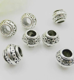 300Pcs Tibetan Silver Spacer Beads For Jewelry Making 9.5x7mm