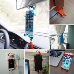 Wholesale 2016 New Phone holder humanoid silicone car holder universal Bondi BNDW Flexible Cell Phone White Holder