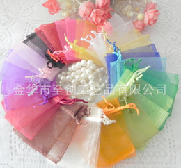 Jewelry Bags MIXED Organza Jewelry Wedding Party Xmas Gift Bags Purple Blue Pink Yellow Black With Drawstring 8*10cm