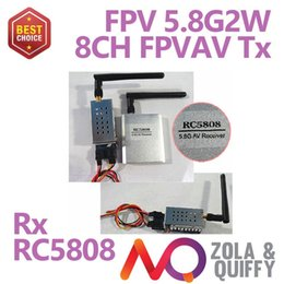 Freeshipping!!!2014 RC5808 2000mW 5.8G Wireless Audio Video AV Transmitter Sender Receiver For FPV