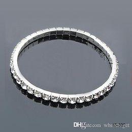 Wholesale Hot Sale Wedding Tennis cm in Diameter Stretchy Rhinestones Wedding Bracelts Hot Sale Spring