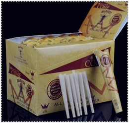 Wholesale 144 cones display box mm hornet brown Natural Hemp smoking rolling papers machine cones tube tubes display box