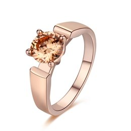 Fashion Womens Jewelry 18K Rose Gold Plated Ring Natural Gemstones Sapphire Birthstone Bride Wedding Engagement Cross Rings Gifts A42