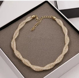 Fashion Korean Collar Chain Style Net Crystal Necklace Exaggeration Short Diamond Sweater Necklace Bib Statement Necklaces for Women Girls