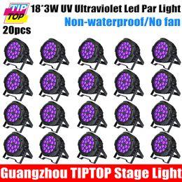 Wholesale tiptop URANUS18 Discount Price Pack American DJ UV Panel Watt Blacklight Fixture W UV Purification Lamps Lighting LED PAR Light