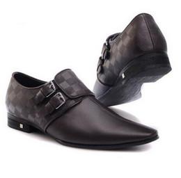 Wholesale Mens Business Shoes Genuine Leather Mens Dressing Shoes Big Size Men Pinted Toe Shoes Black And White Men Dress Shoes Brown Dress Shoes