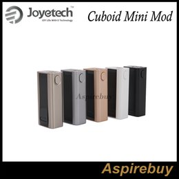 Wholesale Authentic Joyetech Cuboid Mini W Mod mAh TC VW APV Box Mod Firmware Upgradeable Customized TCR Available Dual Circuit Protect DHL Free
