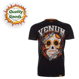 Wholesale Quality goods MMA UFC SANTA MUERTE T shirt Muay Thai boxing T shirt black
