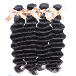 4pcs lot Indian hair cheap price remy hair bundles natural black loose deep wave Indian human hair weavings dhgate greatremy hair sell