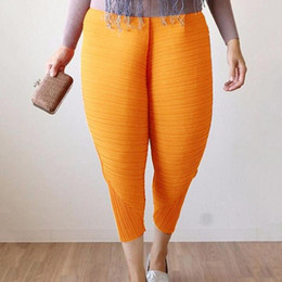 Fried chicken pants 3 colors 6 sizes Novelty Europe and America large size women pants fashion Loose Harem Elastic Waist autumn Small pants