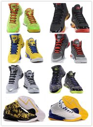 Wholesale 2015 Christmas White Blue Yellow Charged Foam Stephen Curry One Surprise Party Purple Father Basketball Shoes For Mens Best Gift
