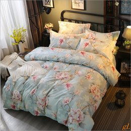 keep warm polyester fabric thicken soft bed sheet duvet cover pillocase Four - piece set