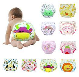 Bébé tissu réutilisable couche nappy en Ligne-Pantalon d'entraînement en coton bébé mignon Bébé couches réutilisables