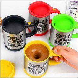 Wholesale Self Stirring Mug Auto Mixing Stainless Steel Plain Lazy Tea Coffee Cup Self Stirring Mug ml