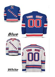Personalized Men's New York Rangers Custom Hockey Premier Jerseys High Quality & Stitched Custom Any Name & Number white Blue jerseys