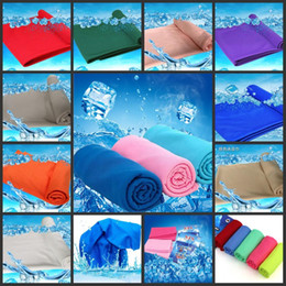 Descuento bufanda para el frío La nueva llegada toalla mágica de hielo de 90 * 38 cm de múltiples funciones de refrigeración frío verano Deportes Toallas bufanda fresca de la correa de hielo para los hijos adultos