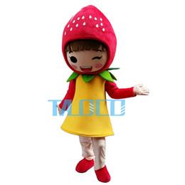 Strawberry Shortcake Girl Mascot Costume Cartoon Adult Mascot Costume