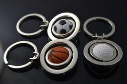 Wholesale Creative men s Sports Basketball World Cup golf ball key chain Mini Key chain pendant