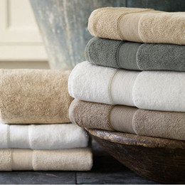 Wholesale 2016 New Pure Cotton Gift Bath Towel More Authentic Plain Satin Back Word Lines Bath Towel HY1213