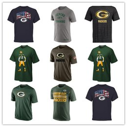 Wholesale Packers T Shirts cheap rugby football jerseys Tshirts Green Bay Salute To Service Banner Wave Black Gold Collection