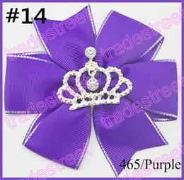 free shipping300pcs 4.5''pinwheel hair bows crown girl hair clips rhonestone toddle hair bows baby gift hair clips