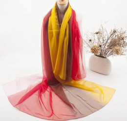 Wholesale Brang Designer Classics Silk Long Scarf Women Lady Gradient Smmuer Sunscreen Scarves CM Mix Colours