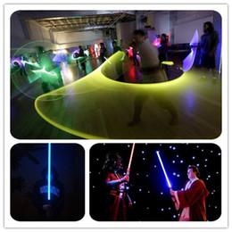 Promotion l'action de guerre Star Wars Lightsaber LED Light Sabre cosplay télescopique Star Wars armes épée avec la lumière et les sons PVC Figure d'action Enfants jouets cadeau
