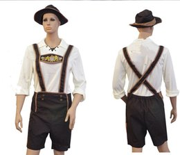 Wholesale Adult Hansell Small Leather Munich Beer Festival In Germany Bavaria Beer Clothing Halloween Costume Bib Shorts Embroidery