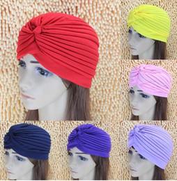 Wholesale 2016 woman Plain Warm Soft Beanie Cap Hip Hop hats for women Europe foreign trade Baotou Turban Hat multicolor Gatau fold Cap