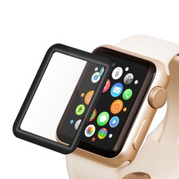 Full Screen Cover 3D Curved Edge Surface Tempered Glass Screen Protector for Apple Watch Ultra-thin HD Invisible Shield for iWatch 38mm 42m