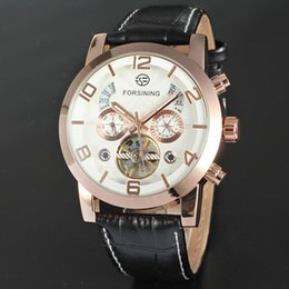 Wholesale 2016 top luxury fashion brand new mechanical watches leather strap watch men watch business gift table Relógio