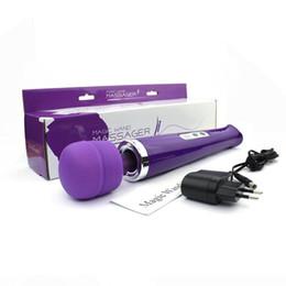 10 Speeds Rechargeable Magic Wand Massager,AV Wand Vibrator,Electronic HandHeld Full Body Massager 110-250V, factory supplier