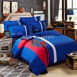 Wholesale Basketball Jam Session applique embroidered bedding sets cotton queen king duvet quilt comforter covers flat sheet bed set pc
