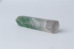 84g hot sell New crystal point natural fluorite dream quartz POINTS HEALING crystal quartz wands for selling