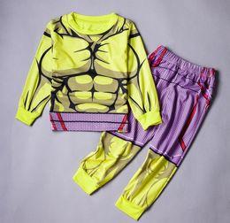 6 sets Cosplay The Incredible Hulk Baby Kids Boys Homewear Sleepwear Pajamas 2pcs set