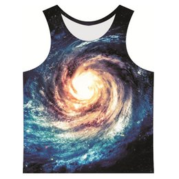 Wholesale Gym clothing D men s tank tops Outer space modern technology picture Sports Vests tank top Singlets Muscle Tops