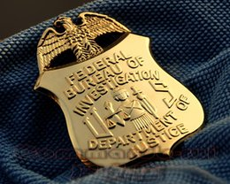 Wholesale The United States Federal Collection of Copper Badges US FBI Department of Justice Eagle Metal Badge