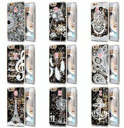 Wholesale Liquid Glitter Quicksand Hard Case Flower Henna Woman Music Pineapple Feather Dreamcatcher For Iphone S Plus Samsung Galaxy S5 S6 S7 EDGE