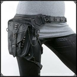 Steam punk Shoulder Messenger bag women outdoor phone bags rock retro style waist leg pack travel bags