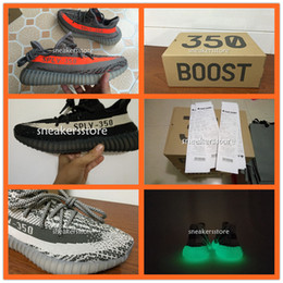 Wholesale with Original Box SPLY v2 boost kanye west highest quality Orang Grey black white glow in dark Stripe sport sneakers running shoes