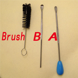 New type Cleaning brush packing wax dabber tool for ago dry herb wax vaporizer pen kit atmos kit electronic E cigarette kit