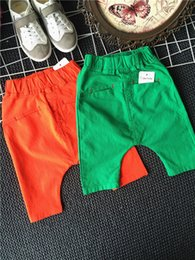 Wholesale 2016 Baby Clothes Boys Pants Harem Pants Casual Pants Middle Pants Shorts Short Trousers Children Boys Clothing Kids Joggers