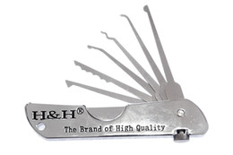 H&H 6-in-1 Fold Pick Tool Locksmith Tools lock pick set