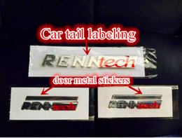 wholesale Free shipping high quality new RENNTECH metal car stickers car accessories FOR Mercedes AMG c63
