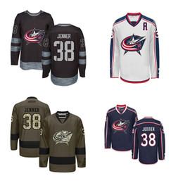 2016 New CHEAP Mens Columbus Blue Jackets Ice Hockey Jerseys 38 Boone Jenner Jersey Blue White Black Authentic Stitched Jerseys Size S-3XL