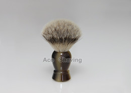 Silvertip Badger Hair High Quality Faux Horn Handle Shaving Brush Grooming tool