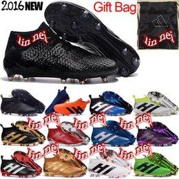 Wholesale original men ace purecontrol football boots x purechaos soccer shoes messi pureagility soccer cleats hypervenom phantom II fg boots